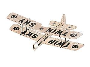 Revell-BalsaBirds Twin Sky Avión de Madera de balsa, Color Beige (24314)