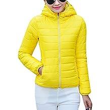 timeless design 7981a 56679 piumino giallo donna - Giallo - Amazon.it