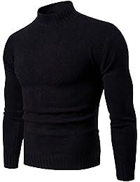 Aden Pull Col Roulé Homme Hiver Slim Sweat en Maille Casual tricoté Manches  Longues 0c4522cb0a21