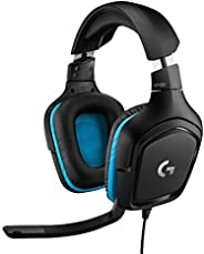 Logitech G432 Auriculares Gaming con Cable, Sonido Surround, DTS Headphone X 2.0, Transductores 50mm, USB y Ja