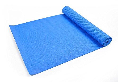 Yogamatte 5FARBEN Gymnastikmatte Pilates Yoga Fitness Turnmatte #163, Farbe:Blau