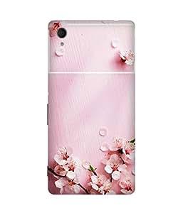 Pink Petals Printed Back Cover Case For Sony Xperia M4 Aqua