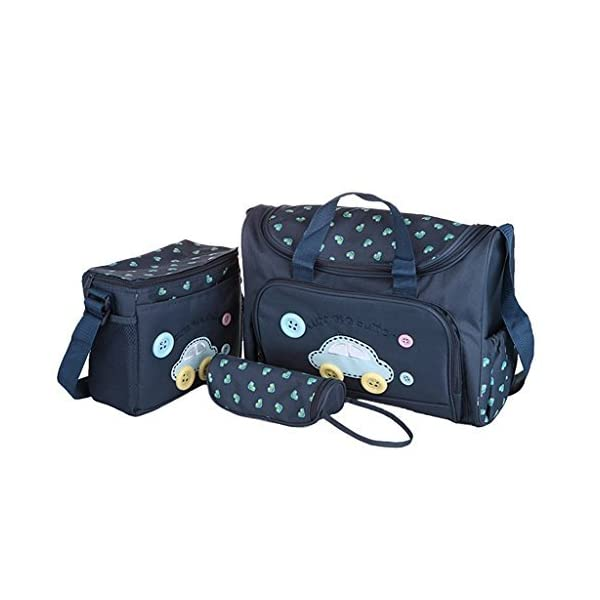 Baby Bucket 4 Pcs Nappy Changing Bags Sets – Navy Blue
