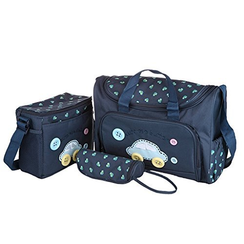 Baby Bucket 4 Pcs Nappy Changing Bags Sets - Navy Blue