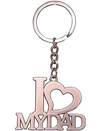 Gratitude I Love Dad I Love Papa Metallic Keychain / Key Chain / Keyring / Key Ring