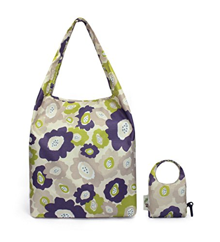 re-uz-trendy-folding-reusable-waterproof-carrier-shopper-supermarket-gym-swim-grocery-tote-bag-lucie