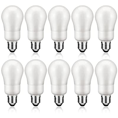 10er Set E27 Energiesparlampe in kompakter Birnenform von parlat (warm-weiß, matt, 230 Volt AC, mini, 13W ESL, Ersatz für 60 Watt Glühlampe, Leuchtmittel, Kompaktleuchtstofflampe, Globeform, Bulb, Haushaltspackung, 230V)