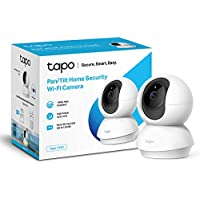 TP-Link Pan/Tilt Security Camera, Indoor CCTV, 360 Degree Rotational Views, Works with Alexa & Google Home, No Hub Required, 1080p, 2-Way Audio, Night Vision, SD Storage