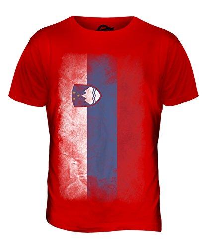 CandyMix Slowenien Verblichen Flagge Herren T Shirt Rot