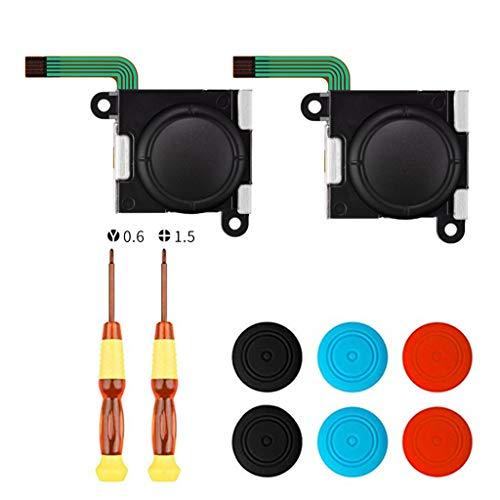 Blingdots 3D-Analog-Sensor-Stick, Joystick-Reparatur-Set für Switch NS Joy-Con, 10 Stück, Akes Your Controller Back to Life -