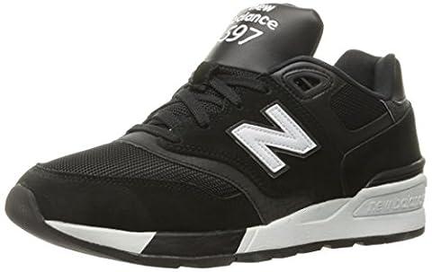 New Balance Men's 597 Running Shoes, Black (Black), 6.5 UK