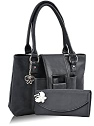 Butterflies Women's Handbag (Black) (BNS MJ013)