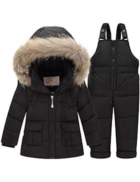 Baby Bekleidungsset Kinder Set Daunenjacke Bekleidungsset Baby Kinder Junge Mädchen Verdickte Winterjacke + Winterhose...