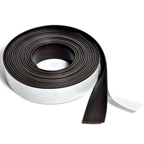 Goods & Gadgets Profi Magnet-Klebeband selbstklebend | Magnetband selbstklebendes magnetisches Tape für Präsentationsmaterial, Ordnung | 3 m Rolle 19 mm Breite x 1,5 mm Dicke