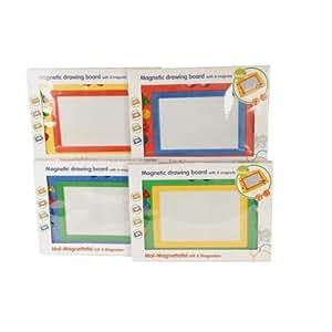 Topicité - 31061 - Loisir Créatif - Ardoise Magique, Stylet et 4 Magnets - 4 Assortiments Couleurs - 47x32 cm
