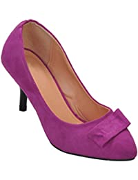 Show Stopper Purple Coloured Suede Upper Slip-on Sandal For Women
