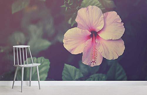 Zuhause Blumentapete Hibiscus Flower Fototapete 200x140CM (Hibiscus Flower Vase)
