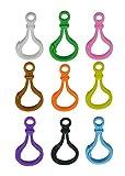 Wuuycoky Karabinerhaken für Schlüsselanhänger, Hartplastik, verschiedene Farben 30 Pcs