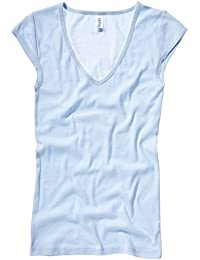 Bella+Canvas Sheer mini rib v-neck t-shirt
