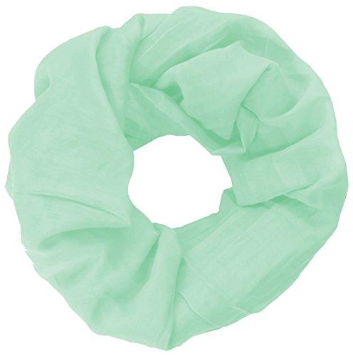 Basic Loop Tuch Schal einfarbig unifarben Made in Italy Loopschal Mint Grün Minze