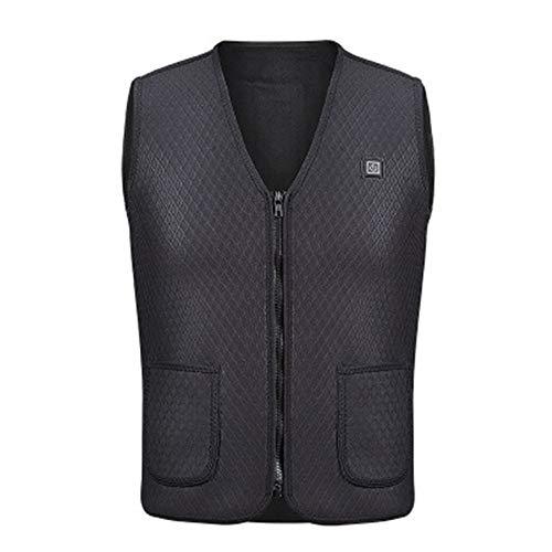 Gaodaweian Elektrische beheizte Weste Einstellbare USB-Aufladung Beheizte Heizjacke Kleidung Winter Warme Weste Beheizt Bequeme Leichte Winter Warme Weste für Indoor - Waschbar Anzug Jacke