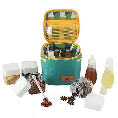 Ben-gi Al Aire Libre de la Botella del condimento Box Set Botella portátil de la Especia Pot Caso Barbacoa Utensilios de Camping Petróleo