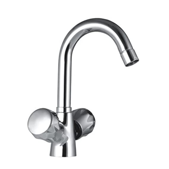 Drizzle Basin Mixer Conty Brass Chrome Plated/Centre Hole Basin Mixer/Pillar Cock Tap/Water Mixer Tap For Wash Basin/Bathroom Tap/Quarter Turn Foam Flow Tap