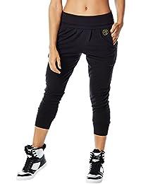 Zumba Fitness Hang Loose Harem Pantalon capri, noir (Back To Black)