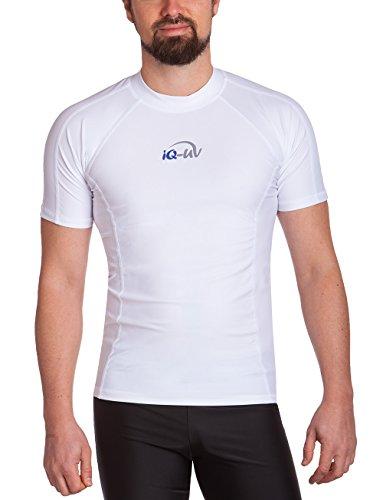 iQ-UV Herren UV 300  Slim Fit Kurzarm T-Shirt, weiß (weiß), L (52) -