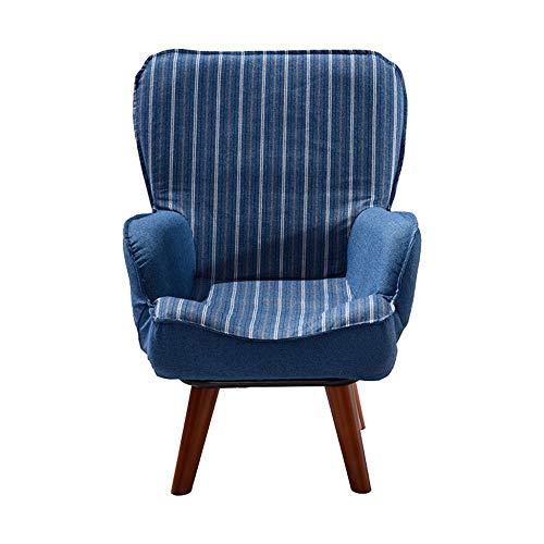 FeliciaWen Kindercouch Kindersofa Gepolsterter Sessel Gepolsterter Stuhl Kleinkindstühle (Farbe : Blau, Größe : 60 * 60 * 78cm)