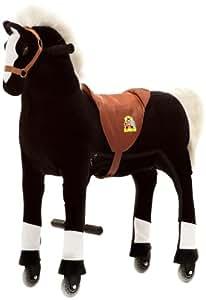 Animal Riding - Zrp001m - Véhicule À Pédale - Cheval - Noir - Medium