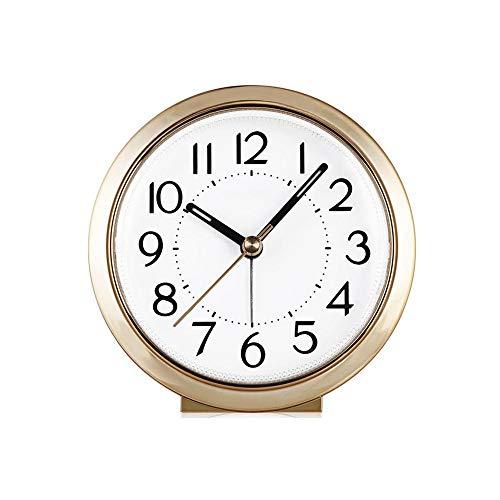 Wecker Snooze Nachtlicht Mute Sweeping Schlafzimmer Kleine Quarz Wecker Mute Nachttischuhr Lazy Sleepy Wake Up Clock