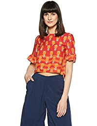 global desi Women's Floral Regular Fit Top