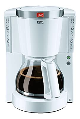 Melitta Look IV Selection, 1011-03, Filter Coffee Machine with Glass Jug, Keep Warm Function, Aroma Selector, White/Brushed Steel from Melitta
