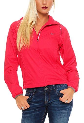 NIKE Damen GOLF DRI-FIT TECH CONVERTIBLE WINDDICHTE Funktionsjacke Farbe: Pink; Größe: XS (Golf-bekleidung Damen Nike)