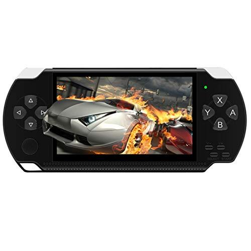 Dkings X6 Handheld Spielkonsole, 10000 Retro Spiele 4,3 Zoll 8 GB Tragbare Videospiel Konsolen mit Kamera 4,3 Zoll Tragbare High-Definition-Handspielmaschine mit 10.000 kostenlosen Spielen (Black) (Handheld-spiel-konsole)