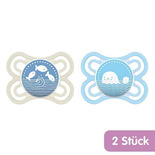 MAM Babyartikel 99953000 - Ciuccio in silicone 0-6 mesi, Confezione Doppia, Modelli Assortiti