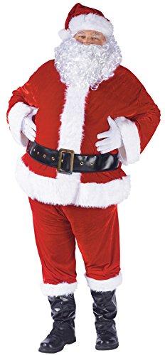 Unbekannt FunWorld - komplettes Weihnachtsmann Nikolaus Santa Claus Kostüm Velour Größe 40-48 - FunWorld 7509 (Velours Santa Kostüm)