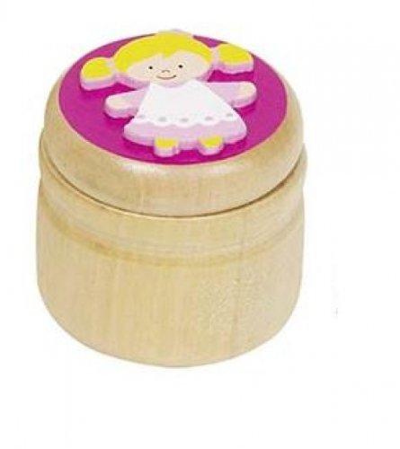 Goki 60914 - Milchzahndose rosa Prinzessin aus Holz