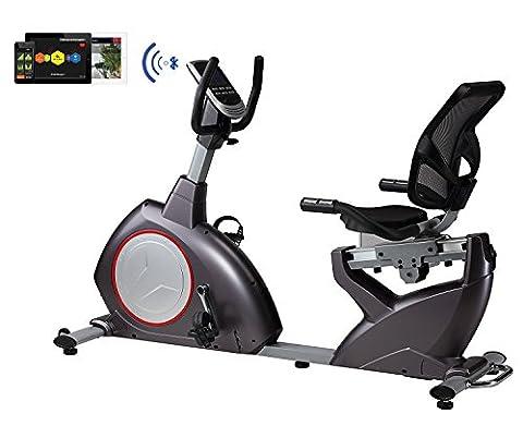 Sitz-Liege-Ergometer BODYCOACH 21853, Heimtrainer magnetischer Widerstand ca. 15 kg Schwungmasse,