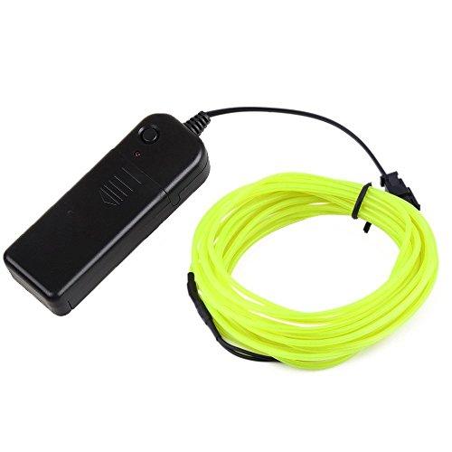 EL Wire 5M(16.4ft)Neon Beleuchtung Draht Lichtschlauch Leuchtschnur Kabel Wire für Partybeleuchtung Weihnachtsfeiern Disco Party Kinder Halloween Kostüm Kleidung