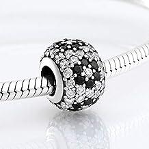 YDMZMS Heldere en Zwarte Bloem Cz Kralen Elegante Vrouwen Accessoires Fit Charms Zilver 925 Originele Armband Sieraden Maken
