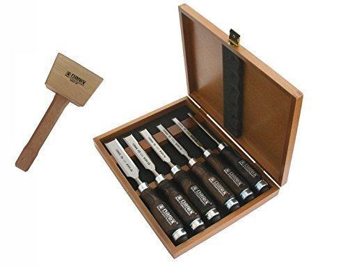 ciseaux-a-bois-set-6-pieces-en-qualite-de-menuisier-maillets-de-menuisier-450-taille