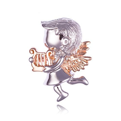 Mosaic Design Jewelry Angel Sterling Silver Pendant Rhodium and IP Gold Finished (Pendant only)