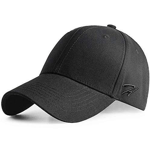 HASAGEI Baseball Cap Herren Damen Basecap Baseball Kappe Reine Farbe Baseboard Baseballkappe Mütze Cotton Hut für Tennis Golf Reisen