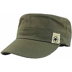 Longra&&Sombrero militar Sombrero militar Sombrero de Bush Patrulla Cadete Gorra de campo de béisbol