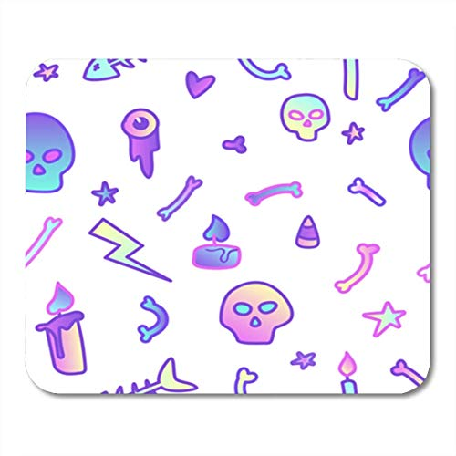 HOTNING Gaming Mauspads, Gaming Mouse Pad Cute in Pastel Colors on White 80S Goth Great for Halloween Party and Flyers 11.8