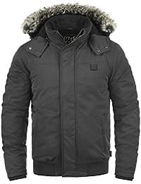 INDICODE Ice Herren Winterjacke Jacke mit Stehkragen und abnehmbarer Fell-Kapuze
