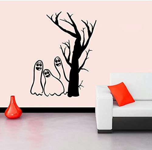 Halloween Wandaufkleber Shop Kreative Dekorative Aufkleber Glasfenster Aufkleber Schwarz Spectre Entfernbare Wandaufkleber