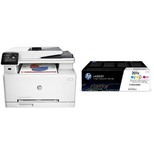 Preisvergleich Produktbild HP Color LaserJet Pro M274n Farblaserdrucker Multifunktionsgerät (Drucker, Scanner, Kopierer, LAN, HP ePrint, Apple Airprint, USB, 600 x 600 dpi) weiß  mit passenden Original Tonern